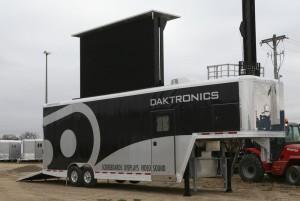 Daktronics mobile LED display trailer
