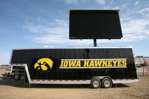 University of Iowa mobile screen trailer