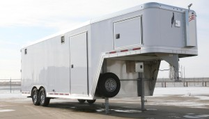 Exterior of support trailer