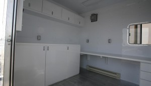 Lab area of support trailer