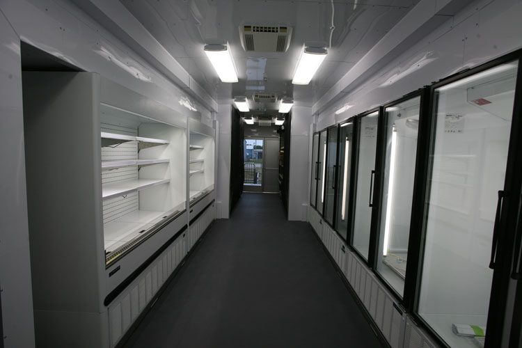 Mobile grocery trailer