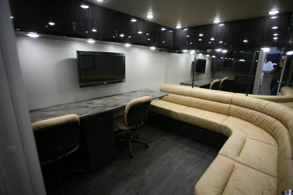 Race trailer lounge