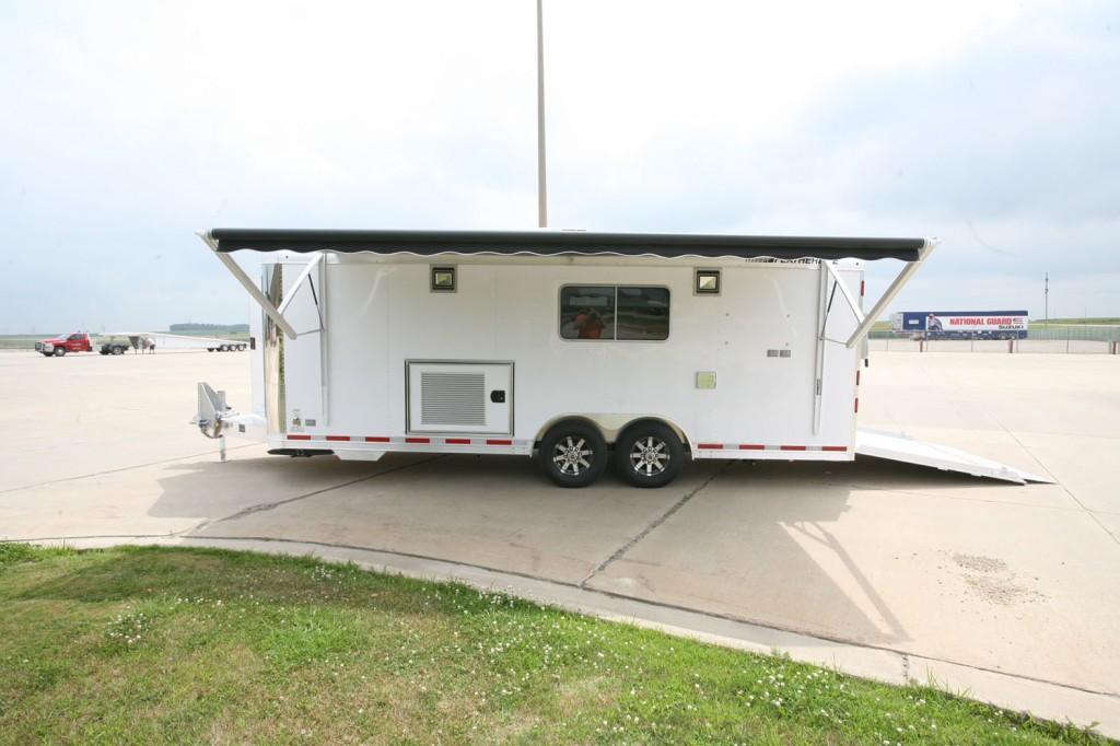 Mobile command center exterior