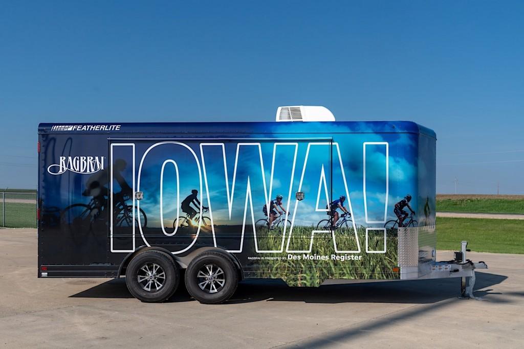 RAGBRAI vending trailer exterior