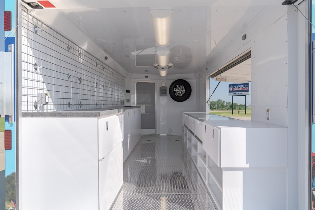 RAGBRAI vending trailer interior