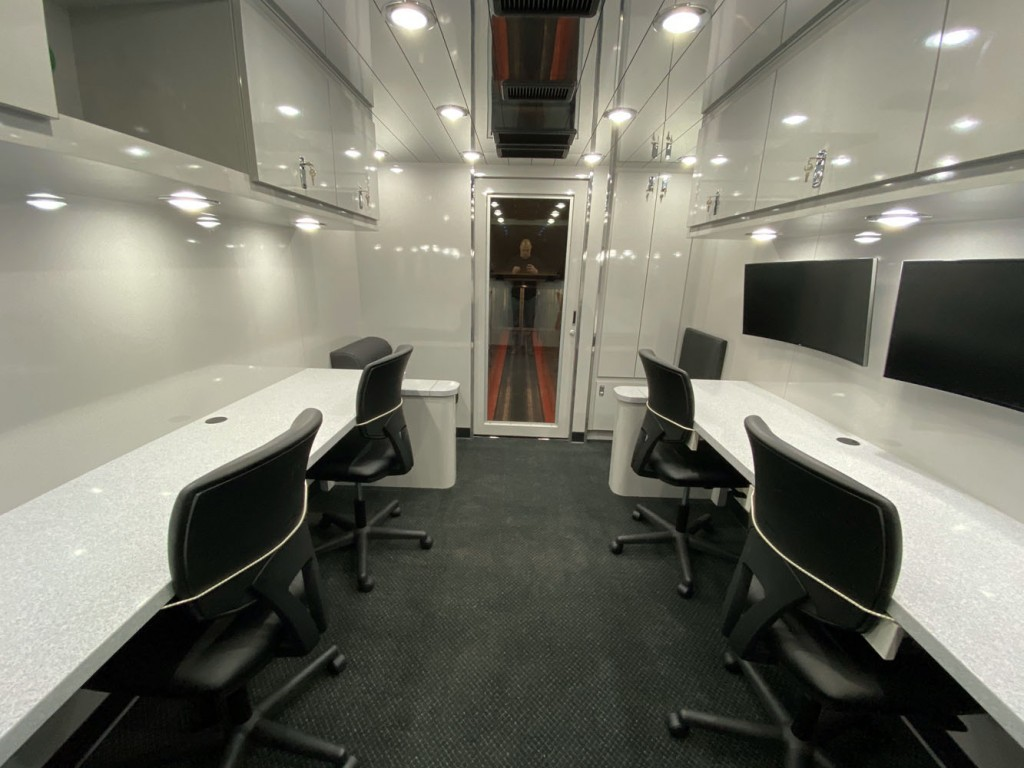 Penske race transporter office