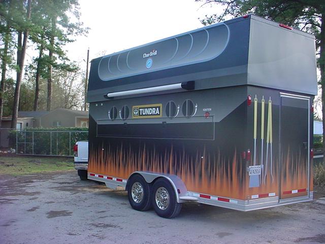Mobile grill trailer