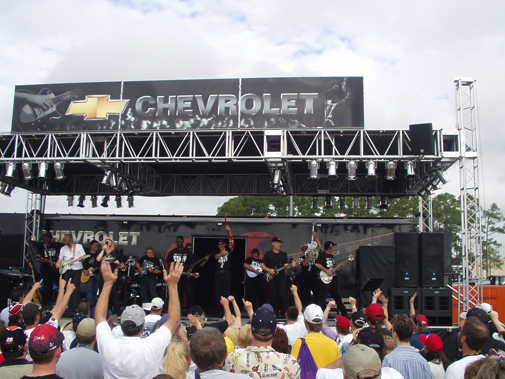 Chevrolet event marketing trailer with stage